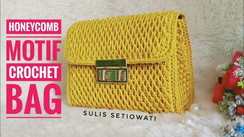 Crochet || crochet bag honeycomb || English subtitles