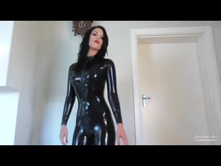 Mistress in latex catsuit(femdom,humiliation,joi,domina,young)