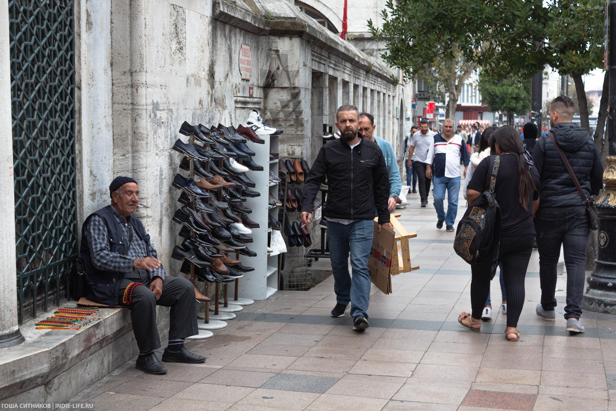 Уличная торговля Стамбул
