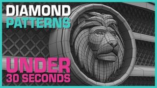 Maya Hard Surface Tutorial: Diamond Patterns