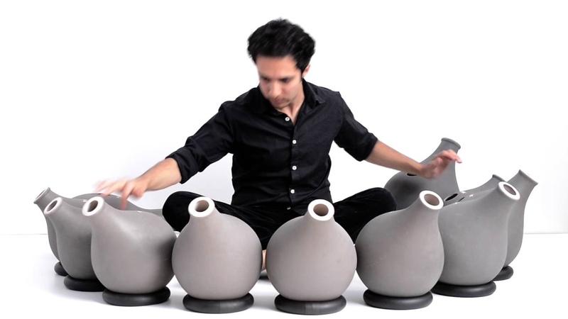 A chromatic set of Doyek Udu Drums by Shayan Fathi