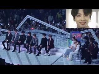 191130 Artists Reaction to BTS (방탄소년단) FULL Performance (TXT, ITZY, CHUNGHA, NFLYING) @ MMA 2019