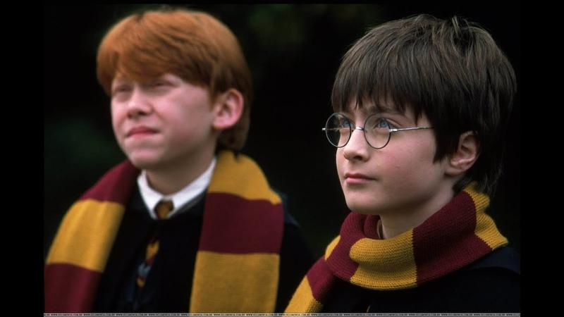 АРХИВ СЪЕМКИ ГАРРИ ПОТТЕРА 2000 год Редкие кадры Малфлой и Грейнджер играют Гарри дурачится
