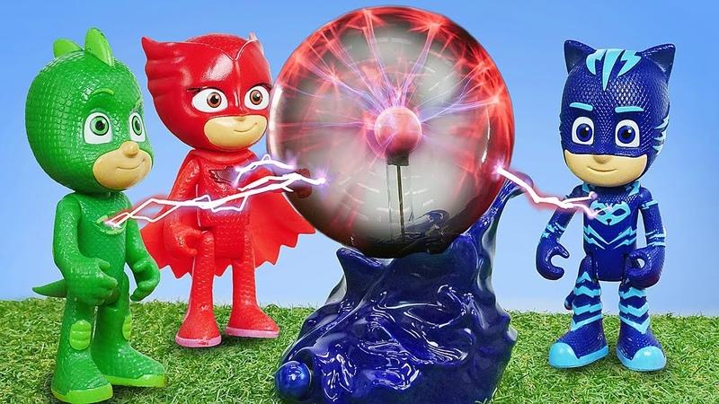 Video e giochi per bambini. PJ Masks Super Pigiamini contro Romeo. Giocattoli educativi