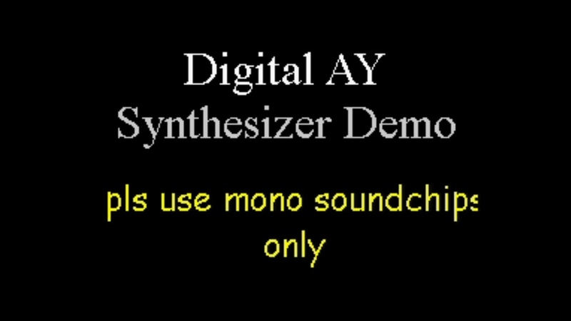 ZX Spectrum 128k Digital AY Synthesizer Demo 2020