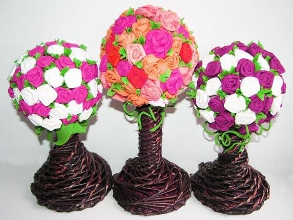 DIY Paper flowers Part 3 Topiary