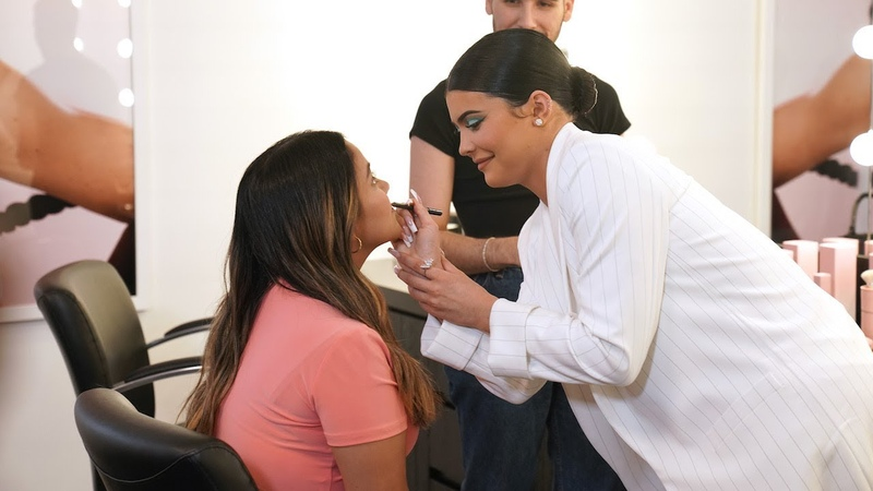 Kylie Jenner Surprises Fan with Visit to Kylie Cosmetics Headquarters