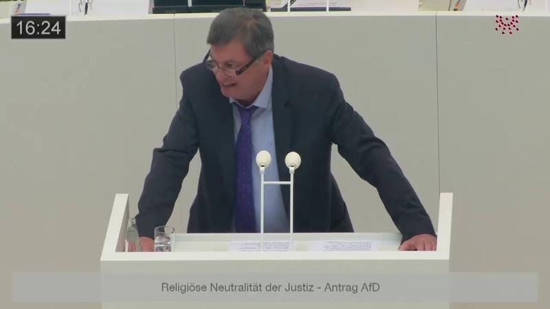 Wir wollen keine Kopftücher in deutschen Gerichten Thomas Jung, AfD. 12.06.2019