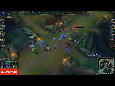 C9 vs 100T Highlights W7D2 LCS Spring 2019 C9 Sneaky Corki vs 100 Bang Ezreal