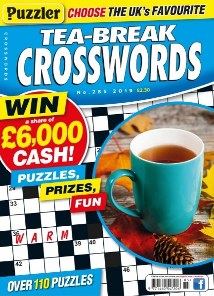 Puzzler Tea-Break Crosswords - Issue 285 September 2019 UserUpload