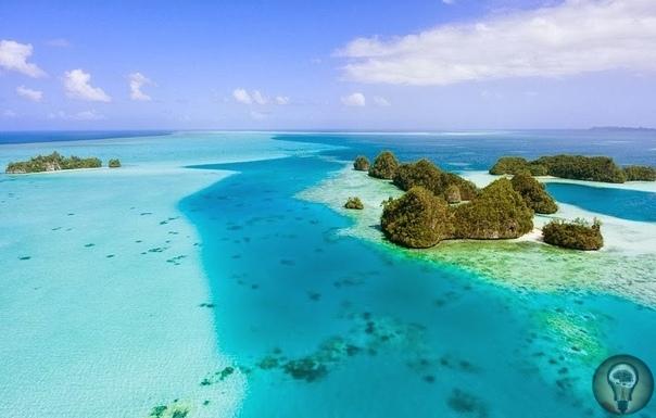 Скалистые острова Палау. Палау это архипелаг из почти 250 островов, расположенный в западной части Тихого океана. Это самостоятельное государство Республика Палау, хотя в географическом плане
