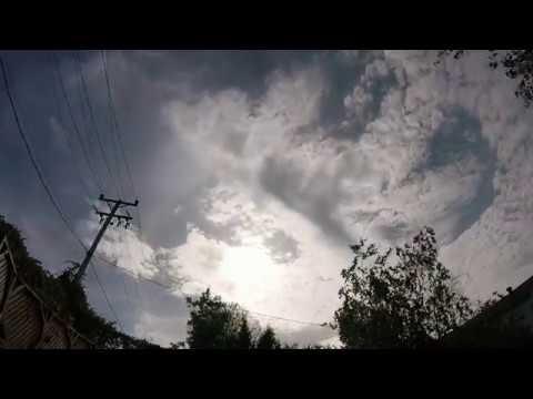 2018 Timelapse Artificial Warm Front Cirrus Stratus Cumulus 5 Oct