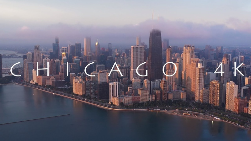 CHICAGO in the Mist CHICAGO im Nebel in 4K UHD Aerial View Drohne