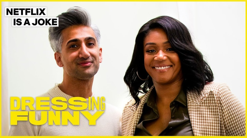 Tan France Gives Tiffany Haddish A Lil Kim Makeover Dressing Funny Netflix Is A Joke