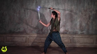 Brazilian poi master  Gustavo Ollitta spin LED pixel props Ignis