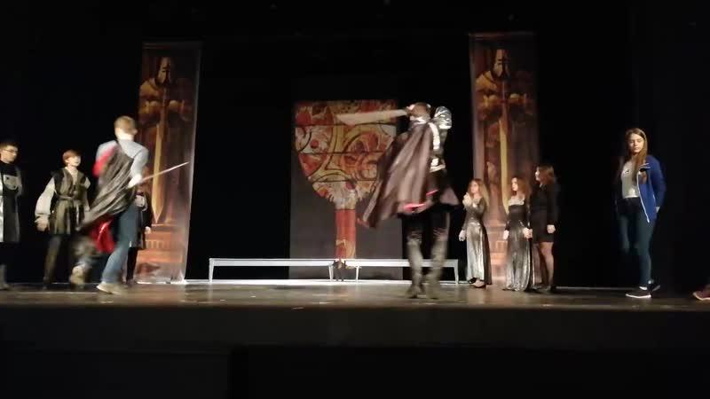 27.05.19 отрывок с репетиции в драматическом театре «На Литейном», спектакль «Легенды рыцарства» (Р.Стивенсон «Черная стрела»).