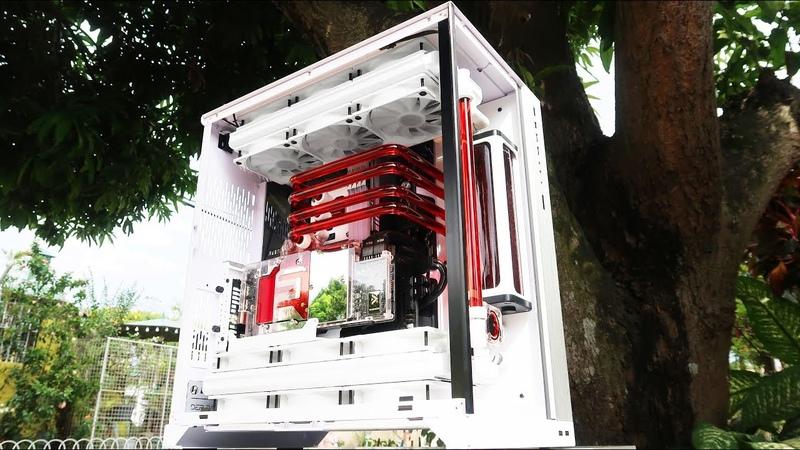 Custom Pc Build 66 Cerise Asus ROG Gaming pc on a Lian Li 011 Dynamic XL