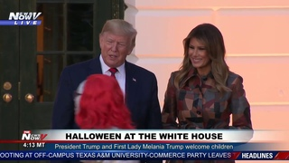 HALLOWEEN: President Trump and Melania Trump at the White House