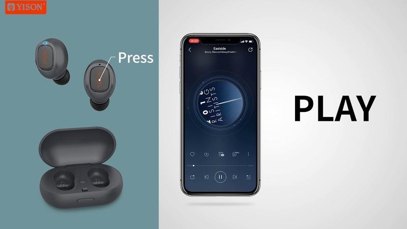 2019 Yison Celebrat Waterproof and sweatproof T1 TWS earphone operation instructions