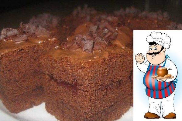 Бисквит шоколадный