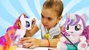 Видео про игрушки и игры в одевалки для девочек. Игрушки из мультика Май Литл Пони - сборник