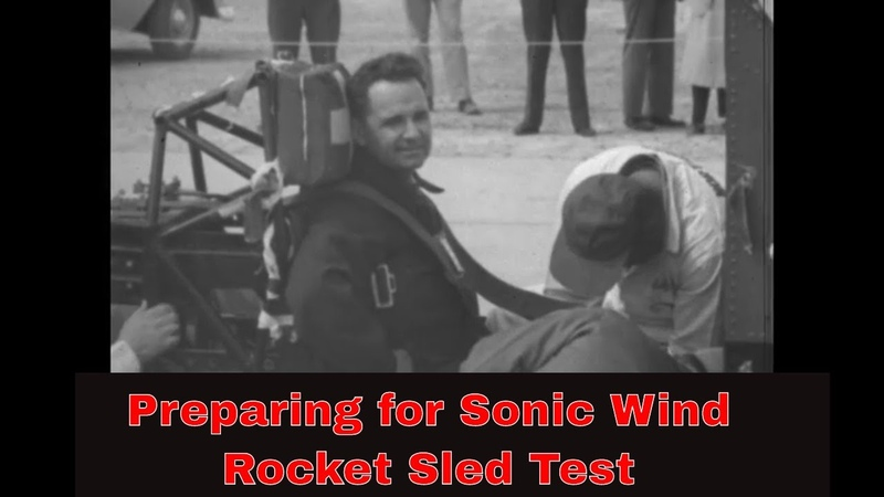 MARCH 19, 1954 HUMAN FACTORS ROCKET SLED TEST DR. JOHN PAUL STAPP HOLLOMAN NEW MEXICO 43404