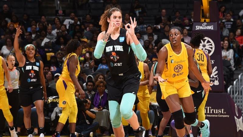 Amanda Zahui B Ignites For 37 Points Against Los Angeles