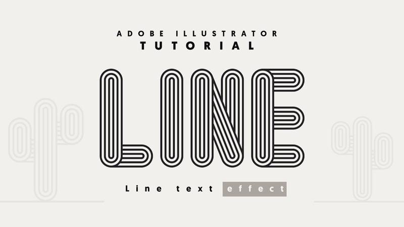 Crea un texto conformado por líneas con Adobe Illustrator