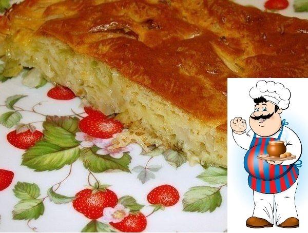 Ленивый пирог с капустой, быстрее не бывает