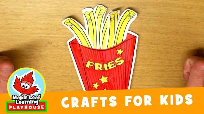 French Fries Craft for Kids | Maple Leaf Learning Playhouse