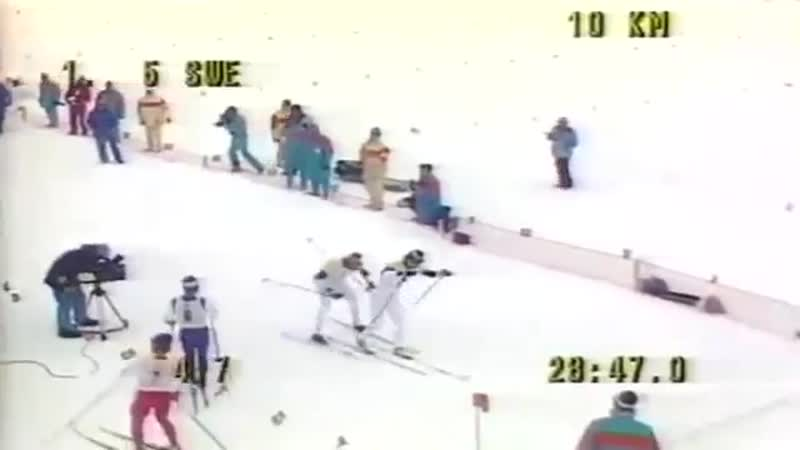 Лыжные гонки. Олимпийские игры 1984. Сараево. Эстафета 4х10. Мужчины. Документал