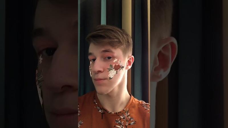 Instagram маска с первого урока в рамках курса Разработка масок и игр в Instagram