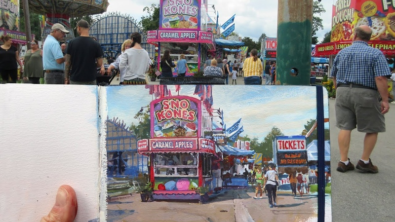 Painting INSANE Detail in Two Hours James Gurney Paints the County Fair in Gouache