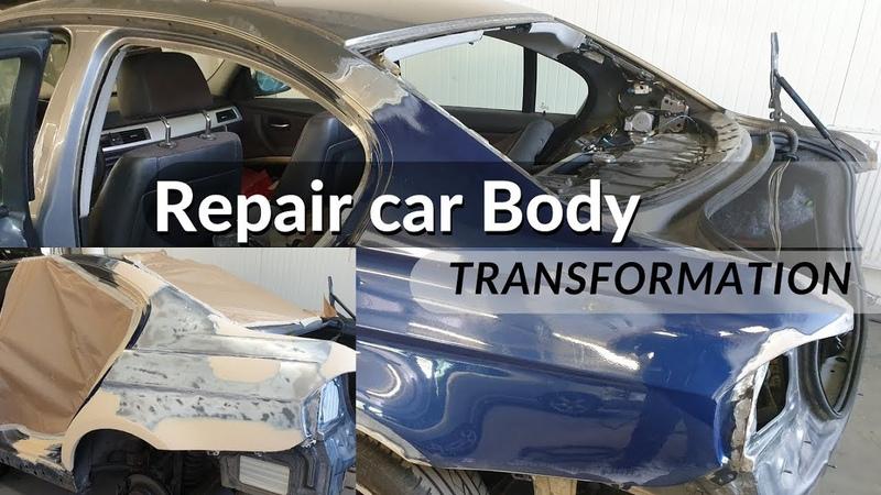 Repair (Prep) car Body Bmw | Ремонт кузова / Repair for Paint | Roberlo Putty | Cromax Surfacer