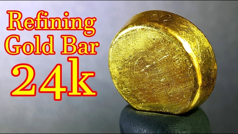 How to refining gold scrap into pure gold bar 24k | aqua regia process at home