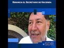 Renuncia el Secretario de Hacienda SDPnoticias