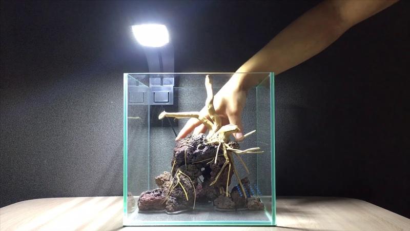 Оформление аквариума 15 литров Hardscape