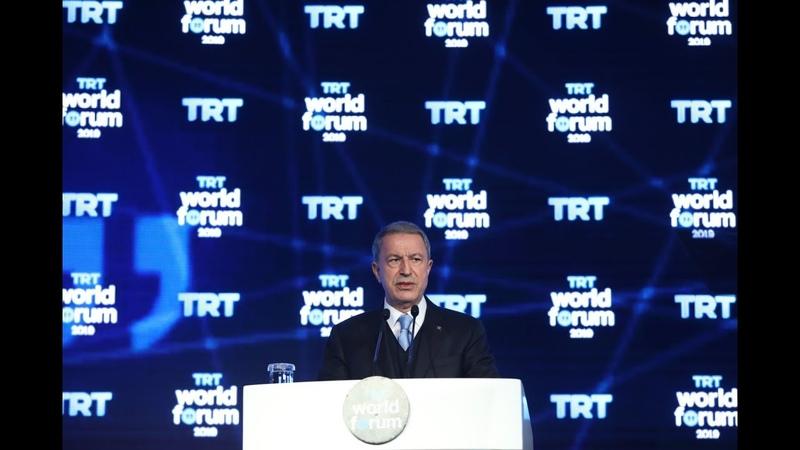 Bakan Akar, TRT WORLD Tarafından İstanbul'da Düzenlenen Forumda Bir Konuşma Yaptı