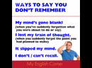 Don't remember phrases