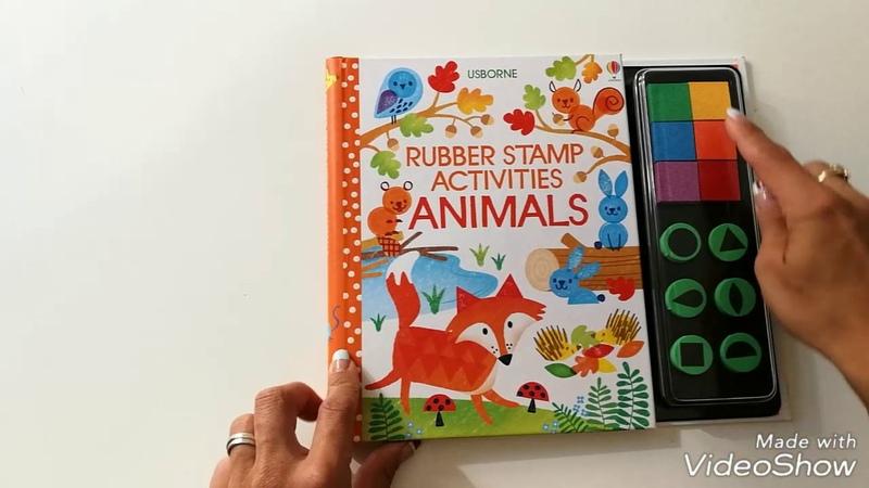 Rubber stamp activities animals - Usborne