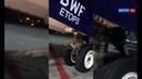 A large bird crashed into an Aeroflot aircraft while landing