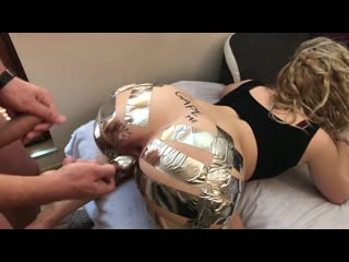 Aryaholes step sis begs me to gape her ass duct tape