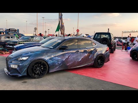 Airbrushing on the car as a Lexus. Space, galaxy