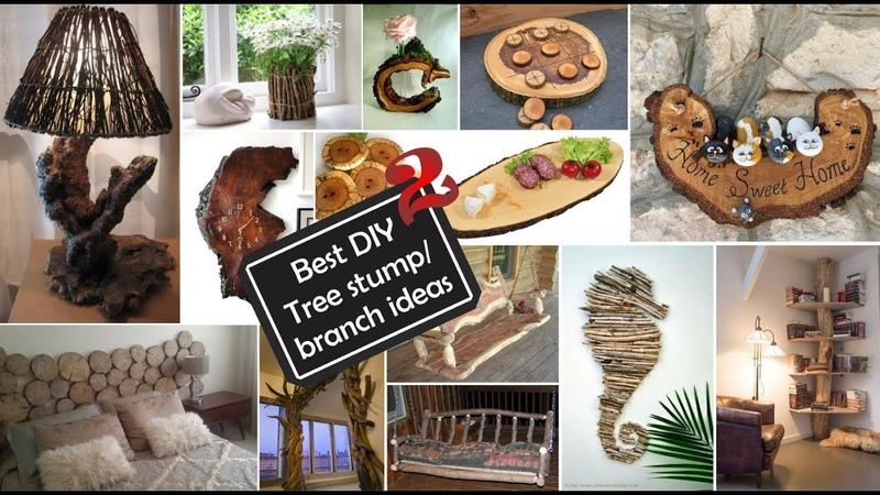 Ideas de Decoración con Ramas y troncos 2 Best DIY Tree stump branch ideas 2