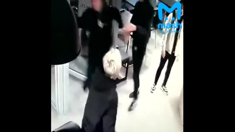 Видео нападения Екатерины Лысых на 16 летнего подростка на Лиговском 48