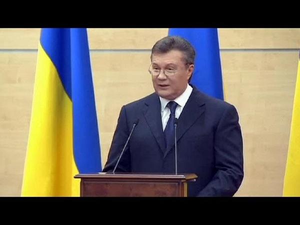 Виктор Янукович Я остаюсь легитимным президентом и главнокомандующим