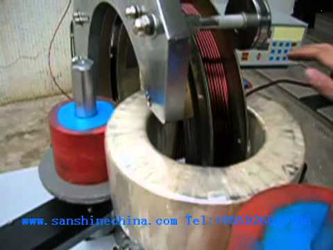 SS1000 SS1001 SS1002 automatic supper big toroid coil winding machinewire diameter 3 5mm