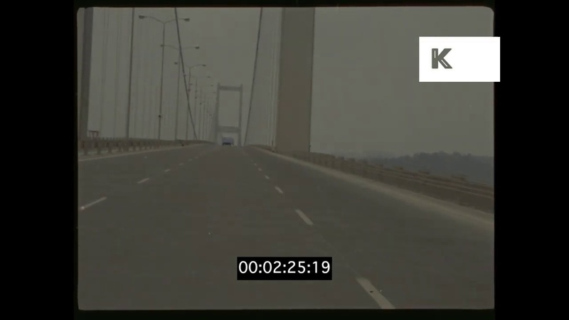 Drive Across the Bosphorus Bridge 1970s Istanbul HD