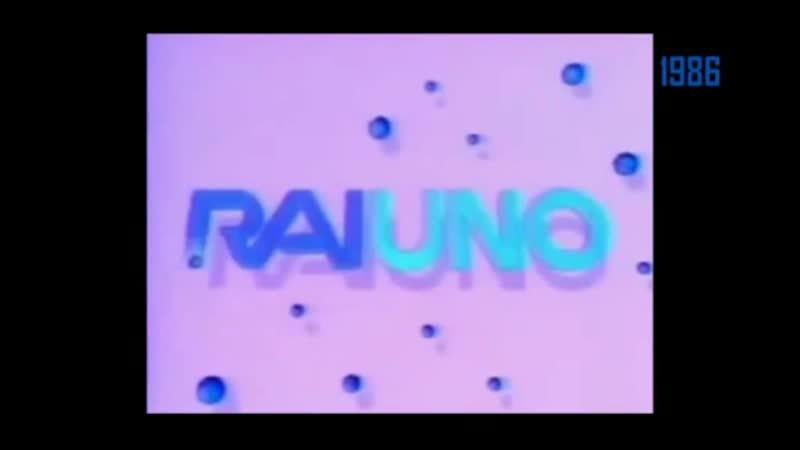 Основные заставки с тримя каналами RAI 1983 1987