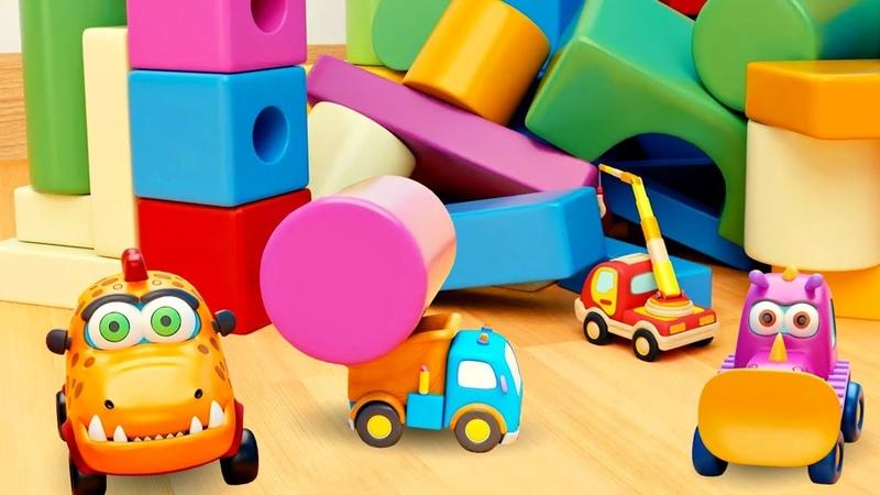 Автобус Басси застрял в кубиках - Мультики про машинки Мокас для детей